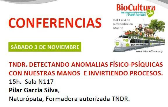 Conferencias TNDR biocultura 2018
